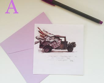 grettings cards with envelope