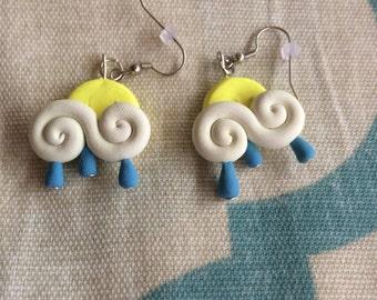 Clay rainy day earrings