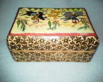 Turkish Mosaic Inlay Trinket Treasure Box