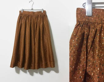 1950s Silk Party Circle Skirt 27W