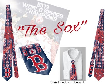 "Baseball. Custom Necktie. Boston ""The Sox"" standard size 58"""