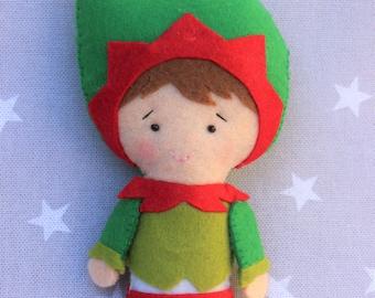 Christmas decoration, Christmas Elf, Christmas ornament, gift Christmas, snowman felt ornament tree, Christmas tree, Christmas gift