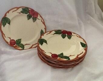 Vintage Franciscan Apple Ware Dessert/Salad Plates