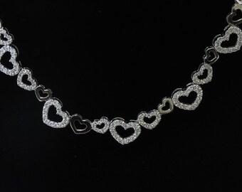 18K White Gold Necklace/Diamond- 2.30ct
