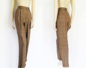 Vintage DAKS Tweed Trousers, UK12, Designer, Vintage Clothing, Trousers, Pants, Tweed, Clothing, Checked Pants, Tweed Pants, Annie Hall