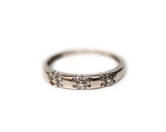 Engagement Ring, Diamond Engagement Ring, Vintage Diamond Ring, Vintage 1930's Ring, 10K White Gold Diamond Ring, 10K Gold Ring