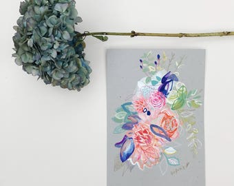 Flower painting, Botanical Drawing