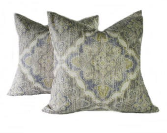 """Pair Ikat Purple Pillow Covers - pink or purple 20"""" x 20"""""""