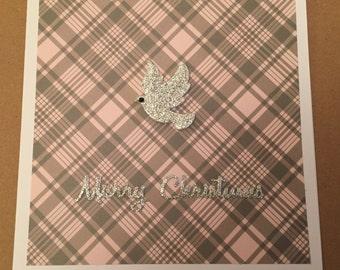 Handmade Dove Christmas Card