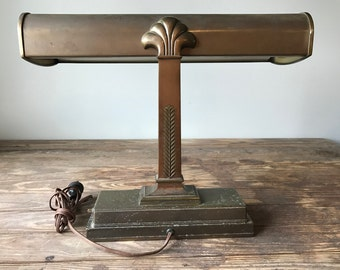 Art Deco Bankers Desk Lamp with Beautiful Detailing