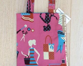 Reversible mini book / shopper bag for child