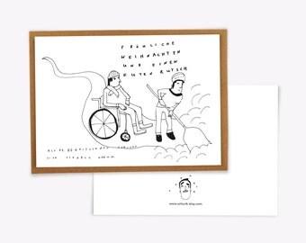 Schurik Christmas card, Christmas Angel, helpfulness, charity,