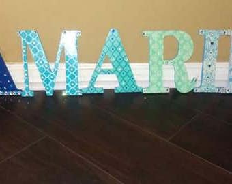 Personalized wood letters