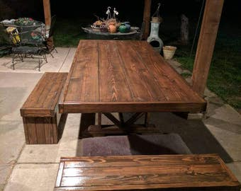 Farmhouse Indoor/Outdoor Dining Room Table