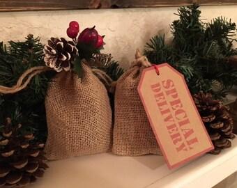 Aromatic Cedar Shavings Burlap Bags