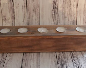Rustic Candle Holder - Rustic Home Decor - Wood Candle Holder - Tea Light Holder - Rustic Wedding Decor - Rustic Centerpiece