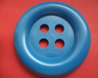 big button blue (1046) 50mm buttons coat buttons 5 cm