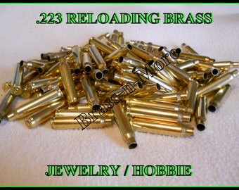 223 rem Caliber Brass Shell Casings For Reloading, Jewelry, or Hobbies - Lot of 500 cases- NEW REDUCED PRICE.