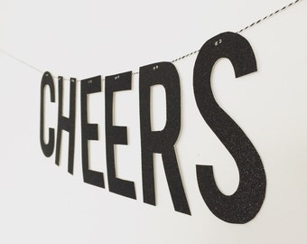 Cheers Glitter Banner