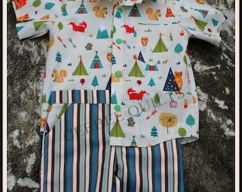 Boy's Oxford Shirt & Bermuda Shorts
