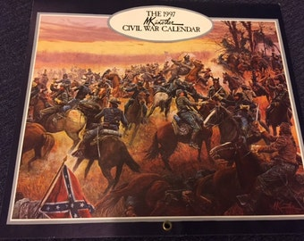 1997 Mort Kunstler Civil War Calendar with original packaging sleeve
