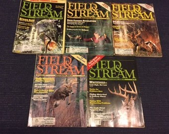 Vintage 1990 Field and Stream Magazines
