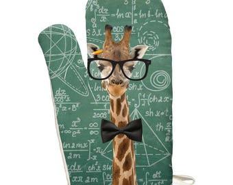Giraffe Math Geek Formulas All Over Oven Mitt