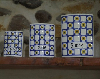 Vintage Set Of Kitchen Canisters // Made in Czechoslovakia