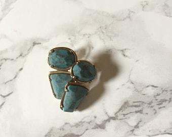 80s Monet minimalist stud warrings | geometric silver earrings