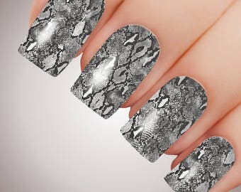 Python - ULTIMATE COLLECTION - Snakeskin Full Nail Decal Water Transfer Tattoo #5053