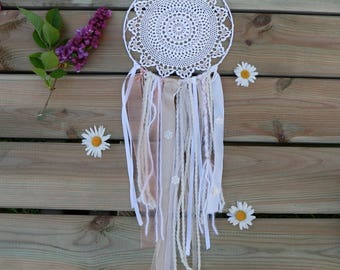 Wall Hanging / hippie wall décor / décor mariage   / art textile /  nude / woolies