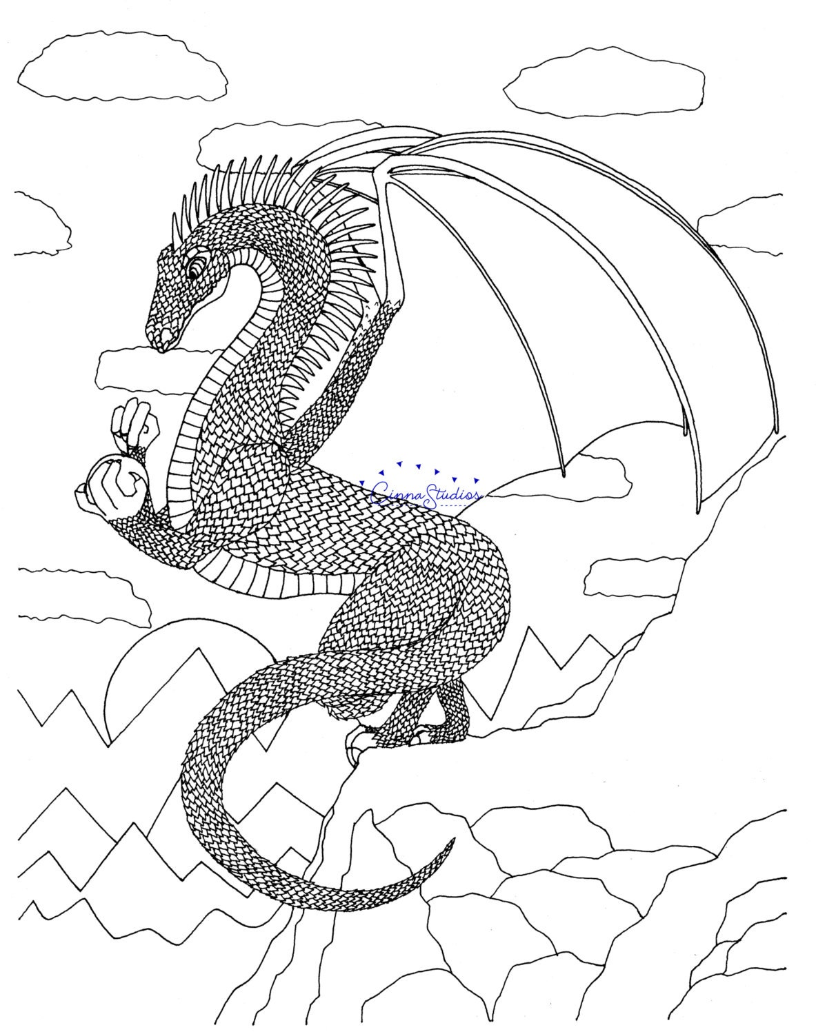 dragons i coloring page coloring download printable page