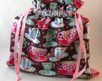 Hot Chocolate Fabric Gift Bag - Medium