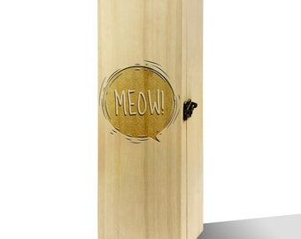 Meow! Bubble Plain Luxury Wooden Wine Box