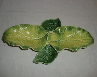 Tidbit Tray.  Arcadia Ceramics.  Leaf Shape.
