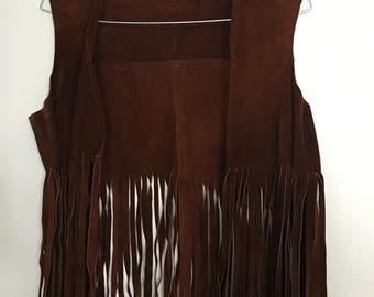 RARE Vintage 70s suede vest