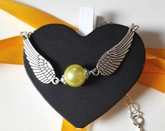 Bracelet Harry Potter Golden Snitch Quiddich yellow and silver snitch ancient magic