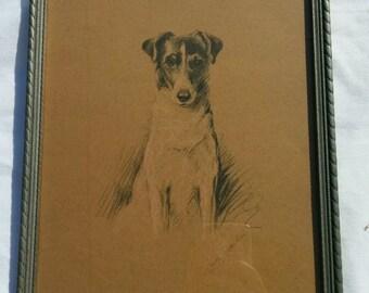 Vintage Lucy Dawson 1937 Framed Dog Print