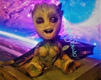 Baby Groot 10cm handmade figure