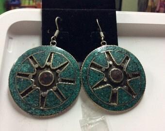 Handmade Tibetan earring