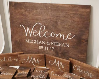Wedding guest book. Rustic welcome wedding sign. Rustic wedding guest book. Welcome to our happily ever after wood sign.