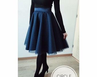 Dark blue tulle skirt!