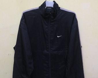 Vintage NIKE Sportswear Black Windbreaker Jacket Size L