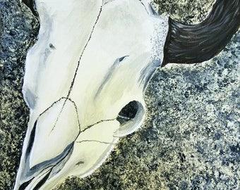 Buffalo Skull Painting