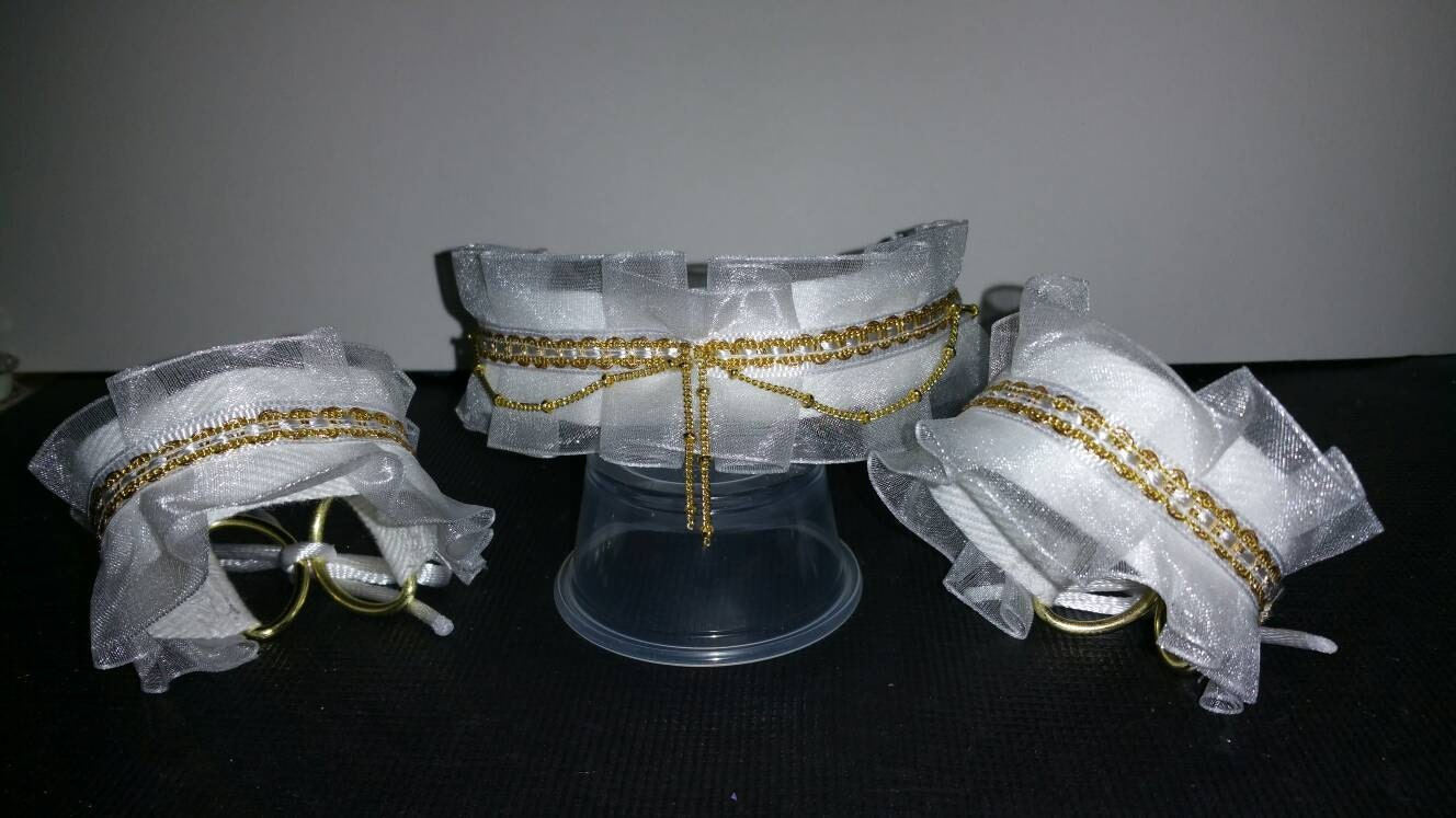 Collar and cuff bdsm
