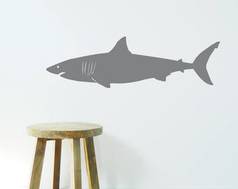 GREAT WHITE SHARK Wall Sticker, Removable Decal, Made In Australia