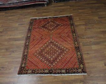 Unique Pattern Handmade Shahrbabak Persian Rug Oriental Area Carpet Sale 5X7