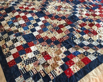 Patriotic nap quilt