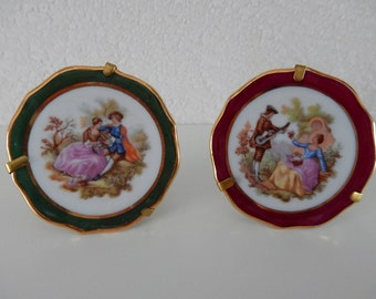 2 ornamental plates Limoges France