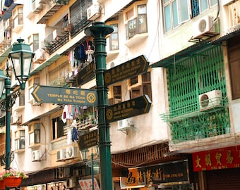 Digital Download, 'Macao Street', China, color photography by Roger Pan